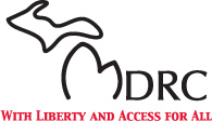 "MDRC logo ""With Liberty and Access for All!"""