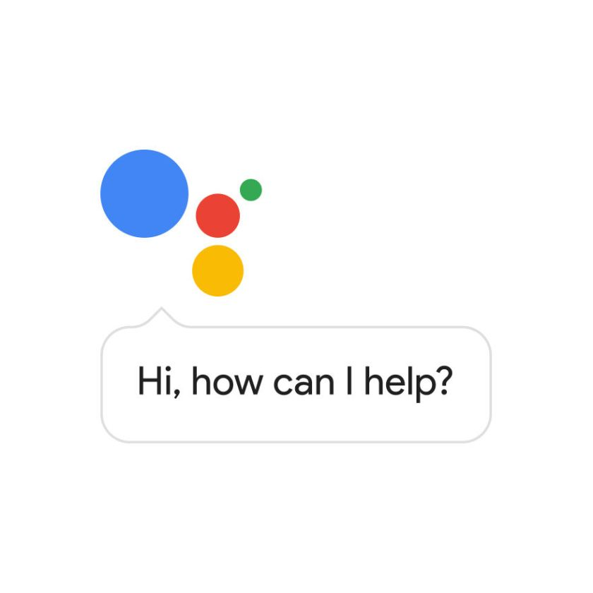 "4 colorful circles with speech bubble ""Hi, how can I help"""