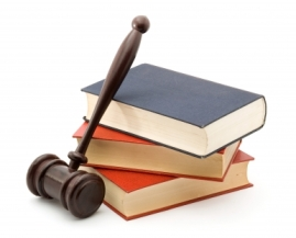 Gavel and a stack of books