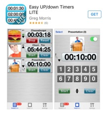 Screen capture of the Easy UP/down Timers app