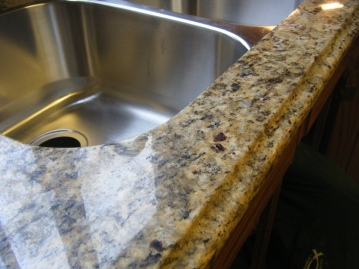 Clean sink and counter top