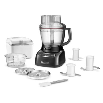 Food processor with attachments