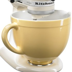 Stand mixer with ceramic mixing bowl