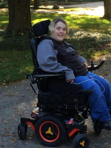 Laura her power wheelchair