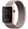 apple watch in rose gold with fabric band