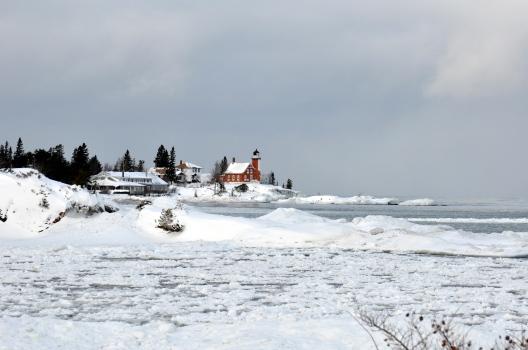 Winter scene from the Keewenaw Peninsula