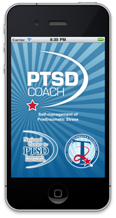 the front page of the PTSD Coach App